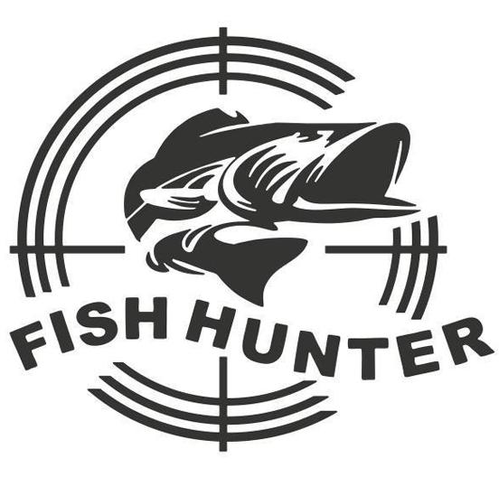 Наклейка (Клуб Одесских рыбаков FISHHUNTER  - белый цвет)