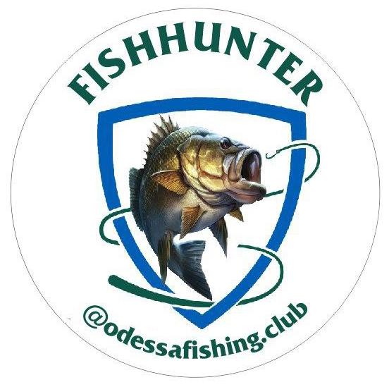Наклейка (Клуб Одесских рыбаков, круглая - полное название)